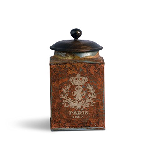 FABULIV Vintage Paris Orange Antique Boxes 4