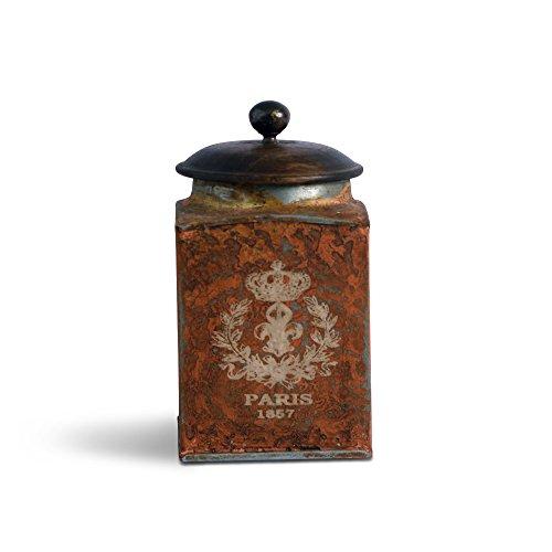 FABULIV Vintage Paris Orange Antique Boxes 4