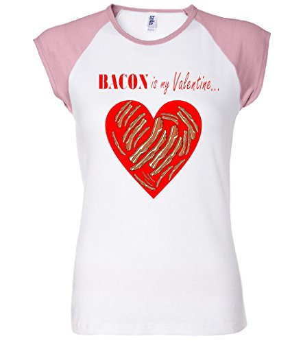 Bacon Is My Valentine Funny V-Day Women's Raglan T-Shirt