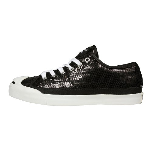 Converse Jack Purcell Sequin Shoes - More Colors (6.5, Black/Sangria/White)