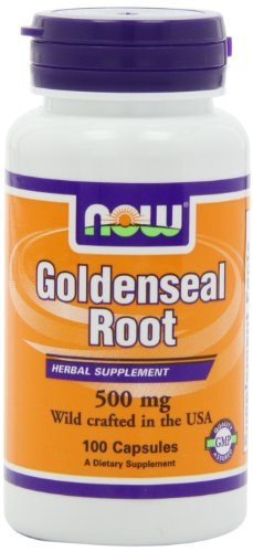 NOW Foods Goldenseal Root 500mg, 100 Capsules