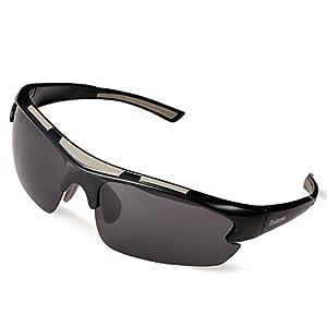 Duduma Polarized Designer Fashion Sports Sunglasses for Baseball Cycling Fishing Golf Tr62 Superlight Frame (Black/Black)