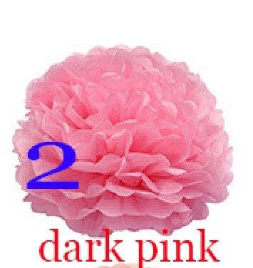 Tissue Paper Decorative Flowers Wreaths Pom Poms Balls Lanterns Party Decor Craft Weddings Events Festive & Party Supplies 15Cm^dark pink. (Dark Pink Party Streamer compare prices)