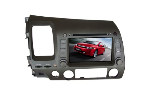 7 Inch Car Dvd Player For Honda Civic Left Driving,Dvd+Analog Tv+Bt+Game+Gps+Pip+Rear Review+Ipod+Touch Screen Function front-273008