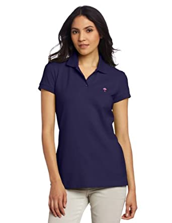 Lilly Pulitzer Women's Island Polo Shirt, True Navy, X-Small