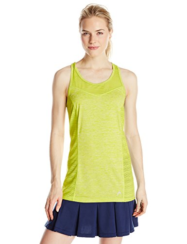 HEAD WOMENS Line Mesh Space Dye Front Singlet Sweet Pea Heather Large Apparel Accessories ...