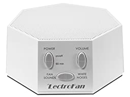 LectroFan - White Noise Machine, 20 Sleep Therapy Sound Options, White (FFP)