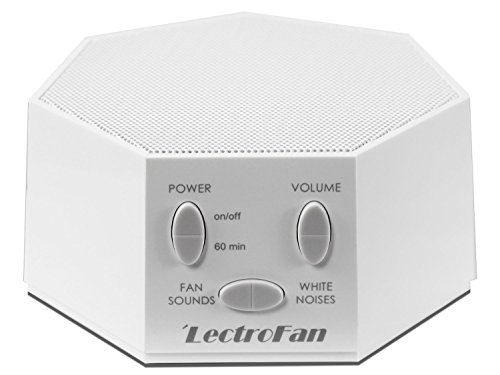 LectroFan - White Noise Machine with 10 Fan and 10 White Noise Options, White (FFP)