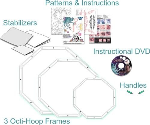 Octi-Hoops For Free Motion Quilting & Embroidery KIT image