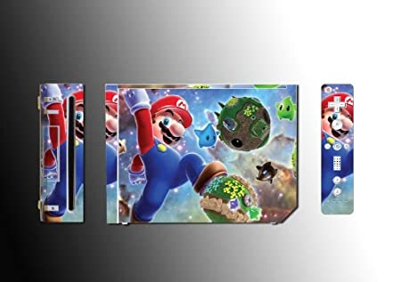 Super Mario Bros Sunshine Vinyl Decal Skin Protector Cover #7 for Nintendo Wii