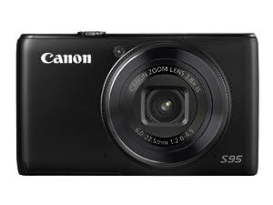 Canon PowerShot S95 Digitalkamera (10 Megapixel, 3-fach opt. Zoom, 7,5 cm (2,95 Zoll) Display, bildstabilisiert, Lichtstärke 1:2.0) schwarz