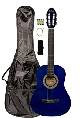 "36"" Inch 3/4 Student Beginner Classical Nylon String Guitar & DirectlyCheap(TM) Translucent Blue Medium Guitar Pick"
