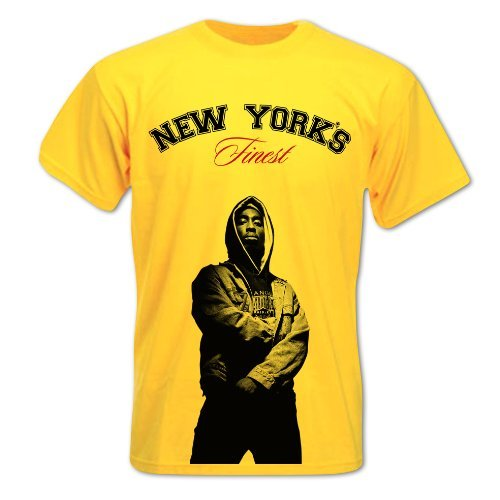 Bang Tidy Clothing Men'S Tupac Shakur 2Pac West Coasts Finest Hip Hop Inspired Design T-Shirt Large Yellow