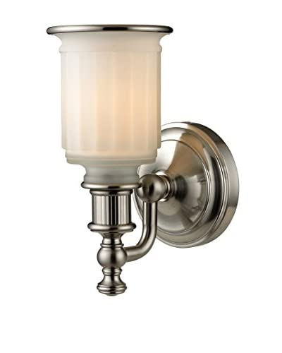 Artistic Lighting Acadia Collection 1-Light LED Bath Bar, Brushed Nickel