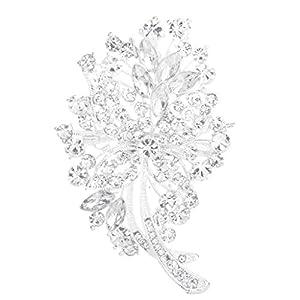 Brosche Anstecknadeln Crystal Strass Braut Hochzeit Bouquet Blumen Pin