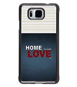 Printvisa 2D Printed Quotes Designer back case cover for Samsung Galaxy Alpha- D4487