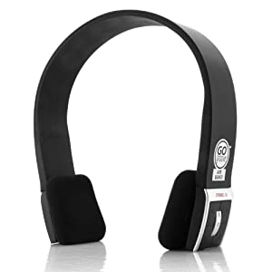 AirBand Bluetooth Wireless Stereo Headphones with Handsfree Microphone for Motorola , Samsung , LG , Apple , HTC & More A2DP Enabled Smartphones , Tablets & MP3 Players! ** Includes Accessory Bag **