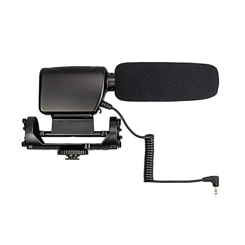 Jjc Mic-3 Stereo Microphone For Canon Nikon Dslr Cameras Or Video Recorder With 3.5Mm Audio Jack