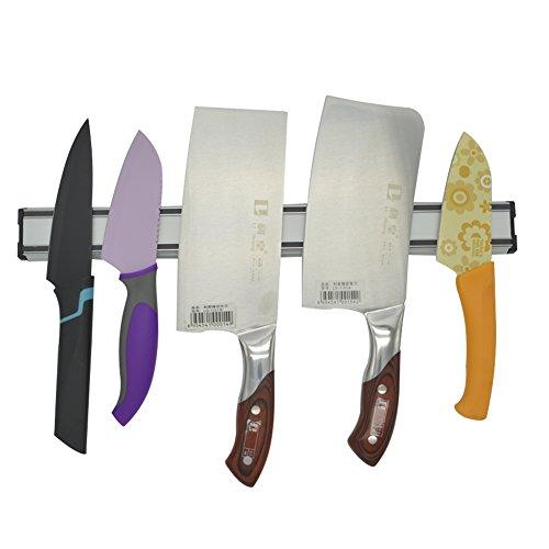 Magnetic Knife Holder Stainless Steel Kitchen Knives Bar Knife Rack Strip knife Storage Strip (16 Inches)