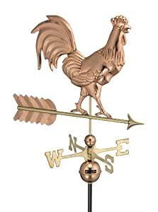 Good Directions 953P Smithsonian Rooster Weathervane, Polished Copper