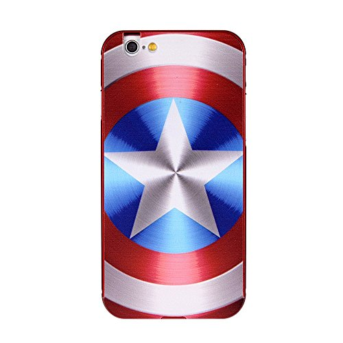 5S Case,Saler-Lee Ultra-thin Luxury Aluminum Metal PC Back (America Captain) Case Cover for Iphone 5/5S/SE (Captain America Iphone compare prices)