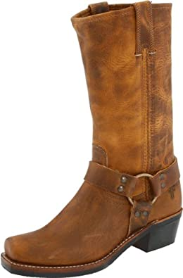 FRYE Women's Harness 12R Boot,Dark Brown,11 M US