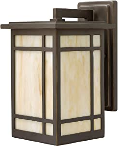 Hinkley Lighting 2000 Craftsman / Mission One Light Outdoor Wall Lantern Sconce from the Parkside Coll, Oil Rubbed Bronze