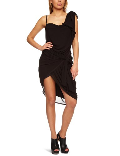 RELIGION LTD Love One-Shoulder Women's Dress Jet Black Small