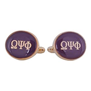 Omega Psi Phi Purple Gold-Tone Cufflinks by Cuff-Daddy