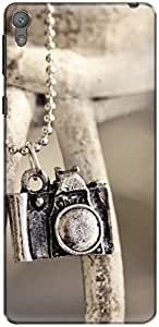 The Racoon Lean locket camera hard plastic printed back case/cover for Sony Xperia E5