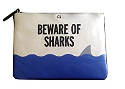 Kate Spade Beware of Sharks Gia Make a Splash Clutch Pouch