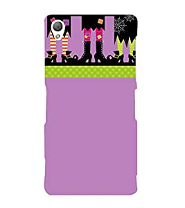 Stylish Cartoon Shoes Cute Fashion 3D Hard Polycarbonate Designer Back Case Cover for Sony Xperia Z3 Compact :: Sony Xperia Z3 Mini :: Sony Xperia Z3 D5803, D5833