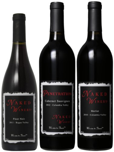Naked Winery Red Hot Trio Mixed Pack, (Library Edition) 3 X 750 Ml