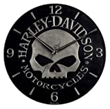 Harley-Davidson® Sculpted Skull Wall Clock. 99366-10V