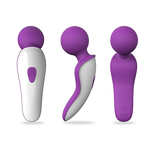 S-Hande Waterproof Wireless Extreme Power Wand Massager Handheld Mini 7X Multi-Speed (Purple)