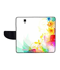 KolorEdge Printed Flip Cover For Gionee Pioneer P4 Multicolor -(45KeMLogo12433GioneeP4)