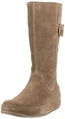 FitFlop Women's Hooper Tall Boot,Seal Brown,8 M US