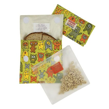 Good Lunch Snack Sack Set/3 Sugarbooger By Oré, In Hungry Monster front-811763