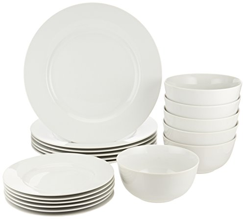 AmazonBasics 18-Piece Dinnerware Set, Service for 6 (Set Service compare prices)