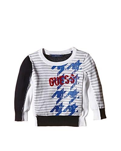 Guess Pullover Ls [Blu/Bianco]