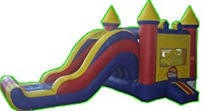 Jingo Jump MCC10 23' x 10' Unisex Combo Inflatable Bounce House w/ Warranty