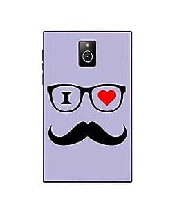 Case Cover Mustache Printed Purple Hard Back Cover For BlackBerry Passport