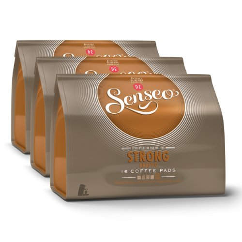 Find Senseo Strong / Dark Roast, Design, Pack of 3, 3 x 16 Coffee Pods - Douwe Egberts