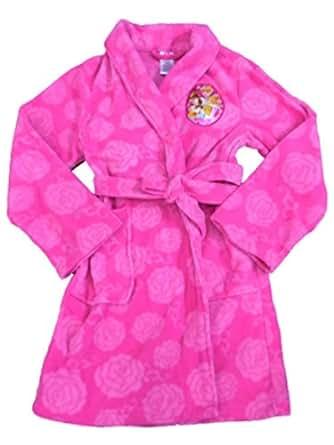 Amazon.com: Disney Girls Pink Princess Robe Fleece Bathrobe House Coat