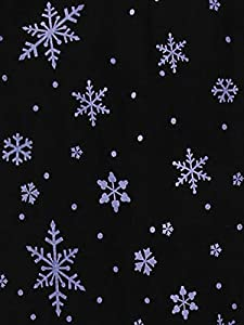 Juniors' Winter Warm Printed fleece lined Basic Leggings,Blue Snowflake