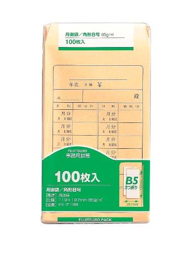 マルアイ 角8 85G月謝袋 100枚パック入 PK-ケ188