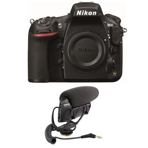 Nikon-D810-Digital-SLR-Body-Only-Camera-Bundle-with-Shure-VP83-LensHopper-Camera-Mount-Condenser-Microphone