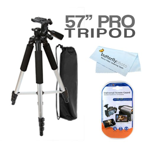 57 Camera/ Camcorder Tripod W/ Carrying Case For Jvc Gz-Ms110 Gz-Mg750 Gz-Hm320 Gz-Ms230 Gz-Hd500 Gz-Hd620 Gz-Hm300 Gz-X900 Gr-Da30 Gz-Hm340 Gz-Ms250 Gz-Hm1 Gz-Hm550 Gy-Hd250U Gy-Hm100U Gy-Hm700L17S Gy-Hm700U Gy-Hm790 Gy-Hm700Chu Gy-Hm700Chxt Camcorder +