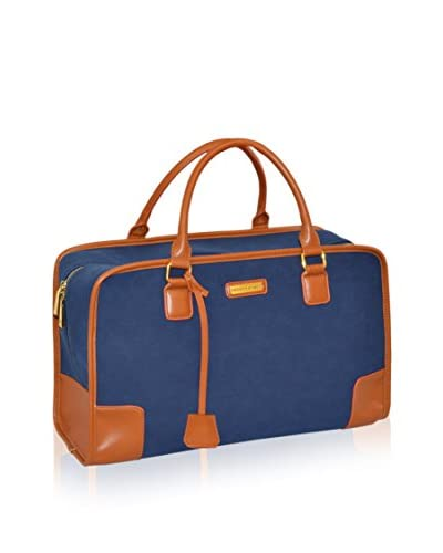 Adrienne Vittadini Faux Suede 18″ Duffle, Navy