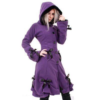 Alice coat ladies purple - XL - Poizen Industries